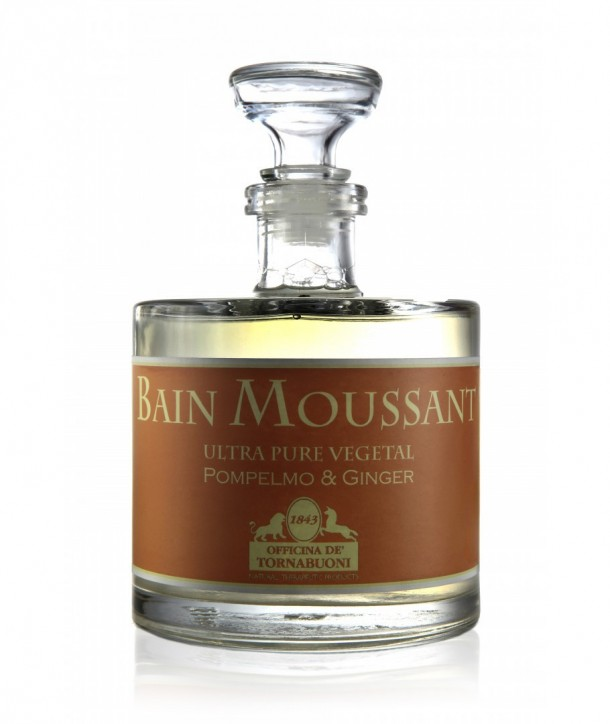 Bain Moussant Ginger & Pompelmo, skin-softening body cleanser